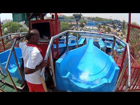 Big Blue Water Slide at Fun N Food Village