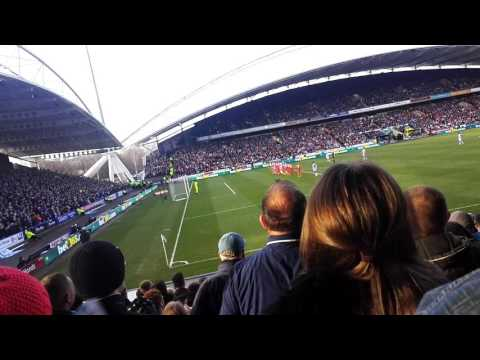 Huddersfield Town go one nil ahead Vs man city FA Cup only for it to be dissalowed
