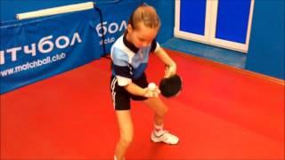 Тренировка детей, настольный теннис в клубе Матчбол