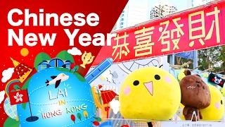 【香港節日】香港年宵市場捉雞仔 Chinese New Year Flower Market -《Lai in Hong Kong》