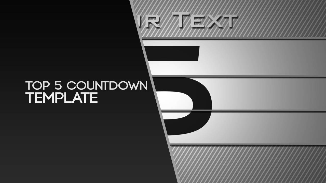 free after effects template top 5 countdown by nerow youtube