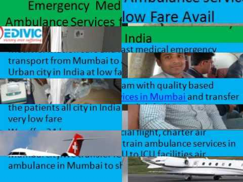 Medical ICU Charter Air Ambulance services in Mumbai at Low fare