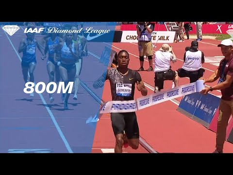 Caster Semenya smashes the 800m meeting record in Stanford - IAAF Diamond League 2019