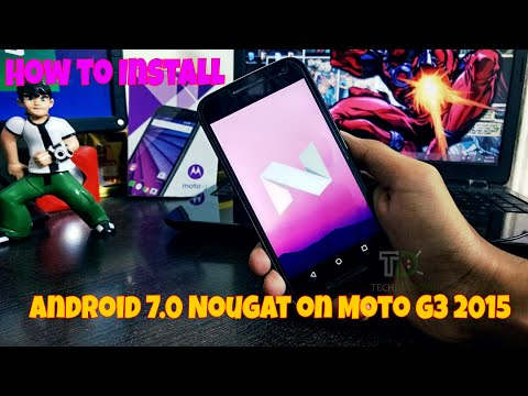 How to Install Android 7.0 Nougat (AOSP) on Moto G 3rd Gen 2015