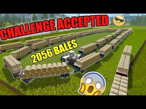 BAILING CHALLENGE | NEW LEADER | 2056 BALES | FARMING SIMULATOR 2017