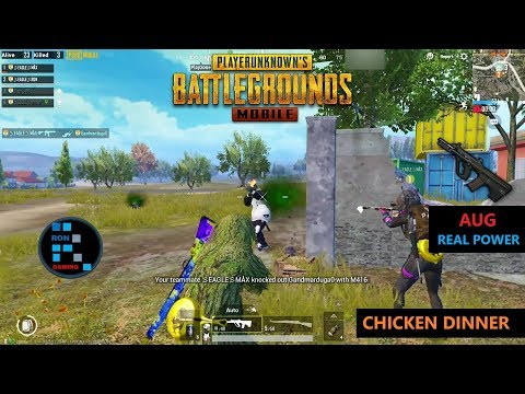 [Hindi] PUBG MOBILE | AMAZING KILLS WITH AUG & NICE CHICKEN DINNER