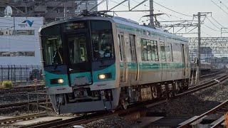 2020/12/18 試6780M 125系金ツルF18編成 クモハ125-18 吹田本線試運転 茨木通過