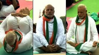 PM Modi leads Yoga Day event at Rajpath