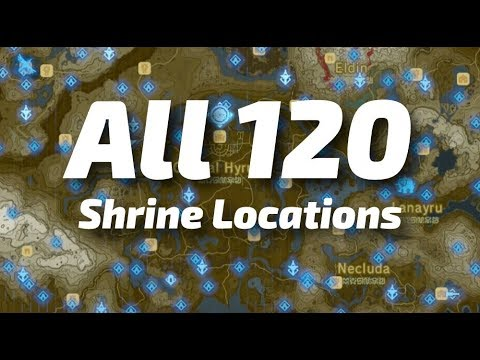 Zelda Botw Shrine Map >> Ubicación de los 120 santuarios en mapa | The Legend of Zelda: Breath of the Wild - YouTube