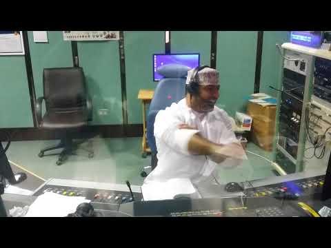 DJ Face (Faisal Al Shihi) in live action across 90.4FM