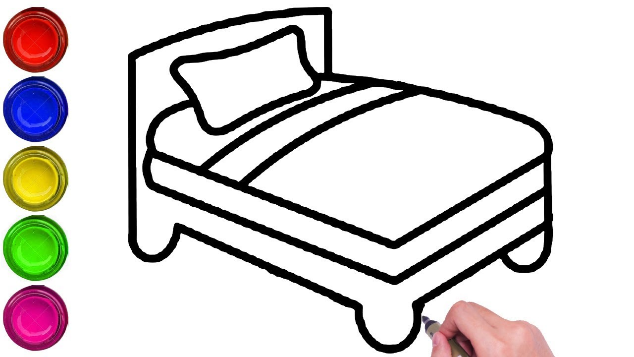 how to draw bed step by step easy simple bed drawing bed drawing easy draw a bed easy