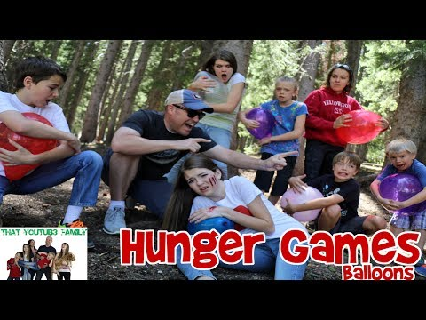 HUNGER GAMES BALLOON WAR / That YouTub3 Family