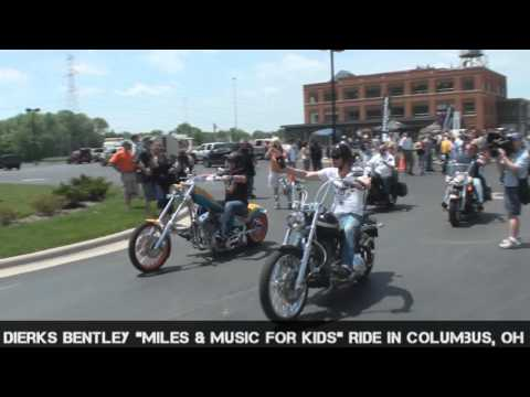 Dierks Bentley 'Miles & Music For Kids' Charity Ride. Columbus, Ohio.