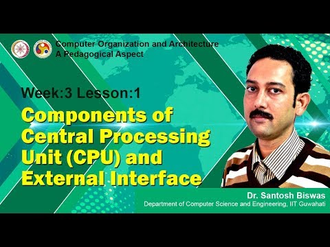 COA [Module 02 - Lecture 01]: Components of Central Processing Unit (CPU) and External Interface