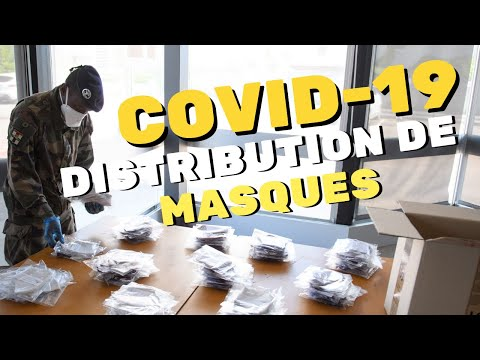 Distribution de masques à Troyes