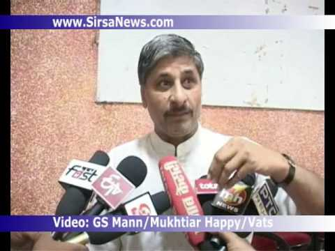 Dabwali Dev Kumar Sharma BJP Leader interview at Grievances Committee meeting Sirsa