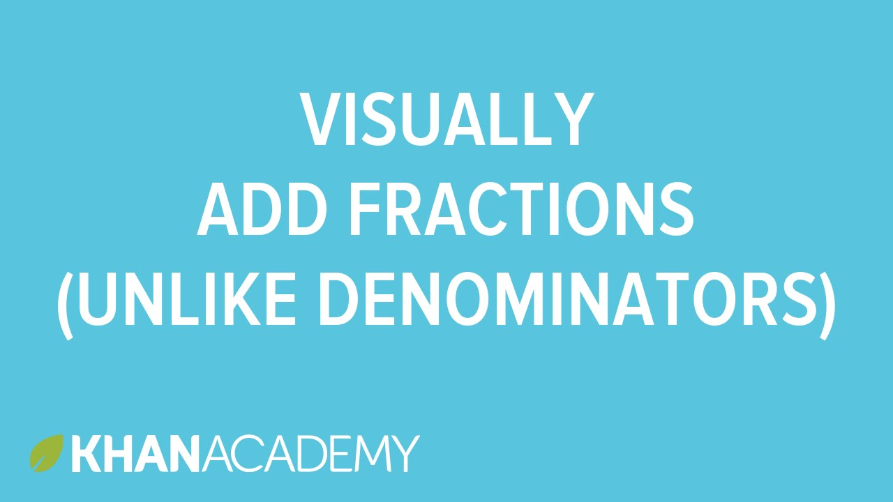 hight resolution of Adding Fractions with Unlike Denominators (solutions