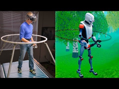 The Infinadeck Omnidirectional Treadmill - Smarter Every Day 192 (VR Series)