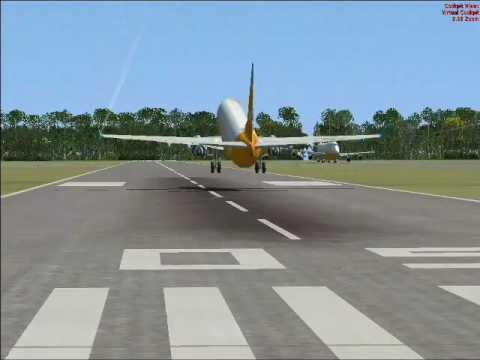 FSX Multiplayer Island Runway Landing Competition (Johnston Atoll)