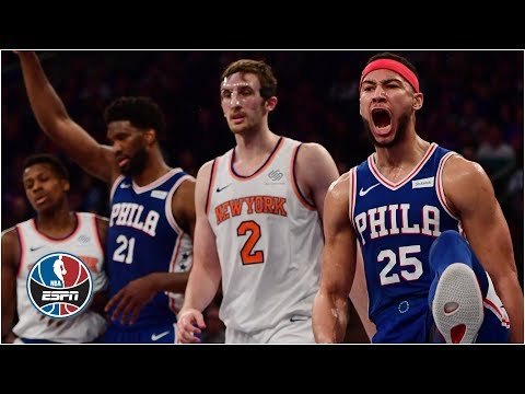 Joel Embiid and Ben Simmons impress in 76ers' win vs. Knicks at MSG l NBA Highlights