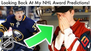 Comparing My NHL Award Predictions To The Final Candidates (2019 Hockey Trophy Prediction Look Back)