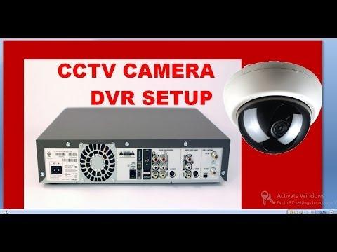 cctv camera installation step by step procedure with dvr setup - YouTube