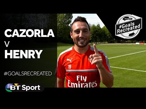 Santi Cazorla attempts that Thierry Henry Premier League wonder goal | #GoalsRecreated