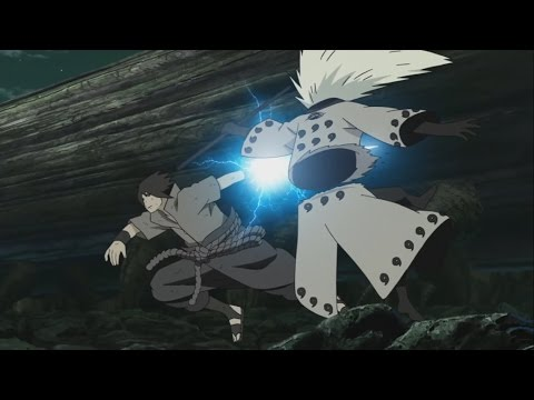 Naruto, Sasuke + Kages vs Obito Six Paths Senjutsu