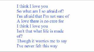 i think i love you with lyrics by kaci brown
