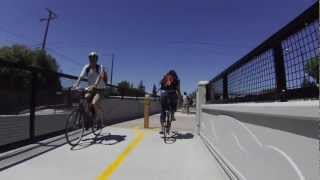Permanente Creek Trail bike path grand opening, Mountain View, California