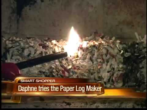 Turn your junk mail and cardboard into fire logs - YouTube