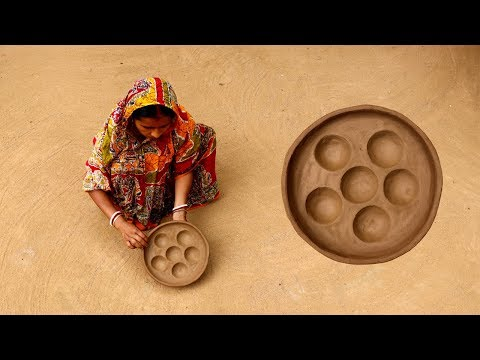 Primitive Technology Build Handmade Clay Tools For The Kitchen | Making Clay Pottery