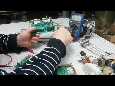 проверка процессора модуля ARKADIA для стиральных машин.