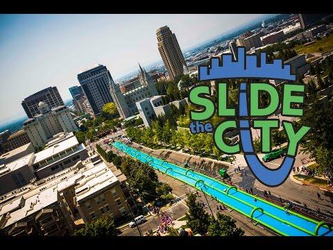 slip and slide -1000 feet!!! - SLiDE THE CiTY