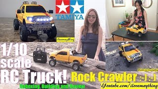 Remote Control Pickup Truck Unboxing, Building, Painting and Test Run. TAMIYA Rock Crawler RC