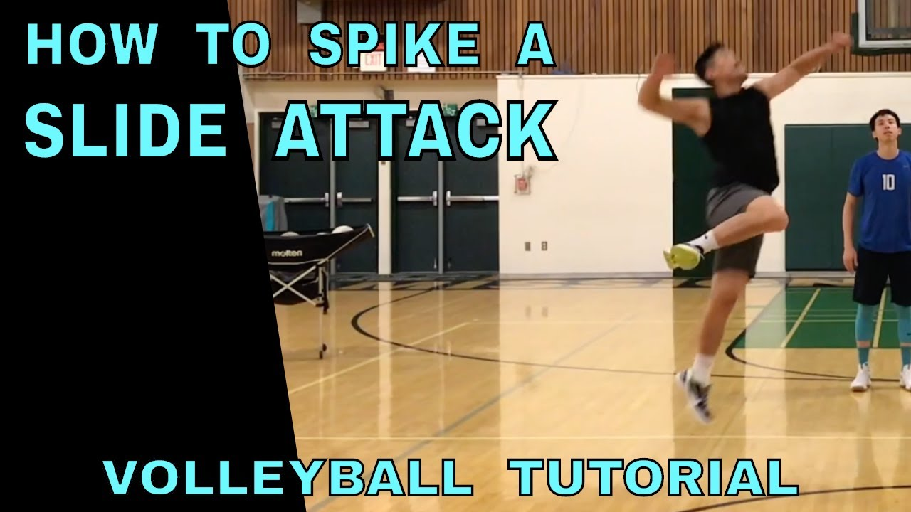How To Spike A Slide Volleyball Tutorial Youtube