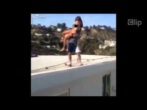 Sốc : Ném người mẫu khỏa thân từ mái nhà