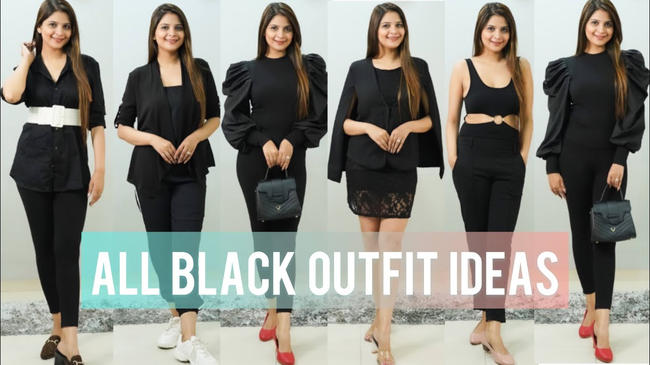 How To Style Black On Black Outfit || All Black Outfit Ideas || Be That Diva
