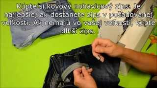 Kurz šitia - Všívanie zipsu do nohavíc