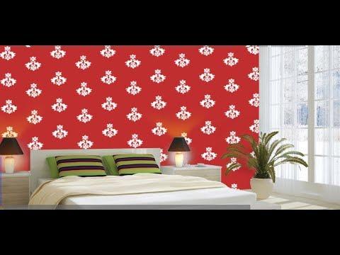Berger Home Decor Naksha Stencil Illusion Design Youtube