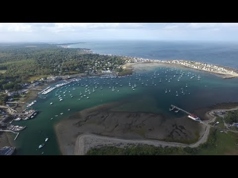 From Scituate Harbor and the Old Scituate Lighthouse, Drone Footage (Full Flight)