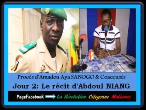 Jour 2 du procès d'Amadou Haya Sanogo: Récit d'Abdoul Niang