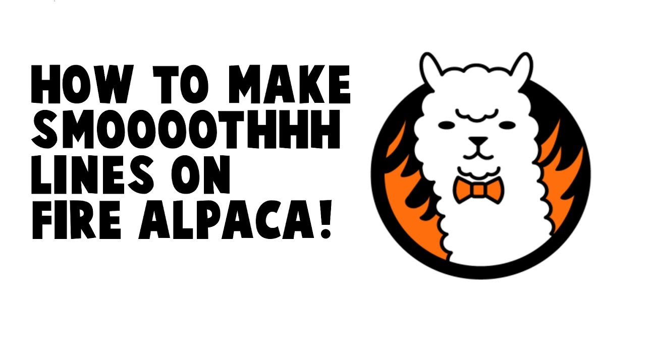 How To Make Smooth Lines On Fire Alpaca  Digital Art