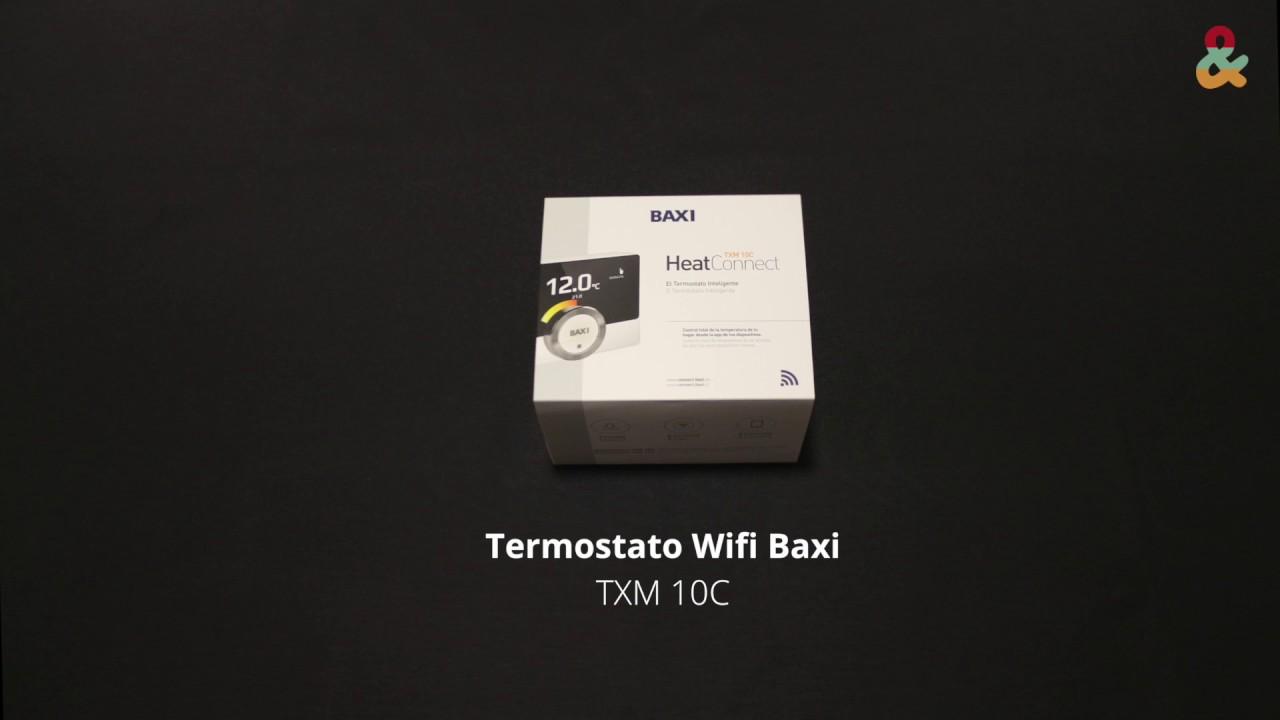 termostato wifi baxi txm 10c youtube