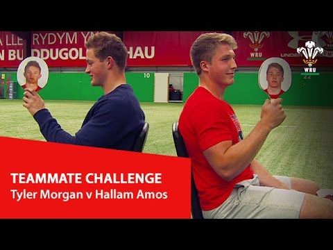 Teammate challenge: Tyler Morgan v Hallam Amos   WRU TV