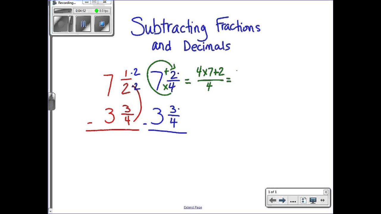 How Do You Add Fractions With Decimals
