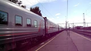Прибытие ЧС2К-791 с поездом №290С Анапа — Екатеринбург