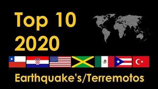 Top 10 Terremotos en el Mundo 2020 / Top 10 World Earthquakes 2020