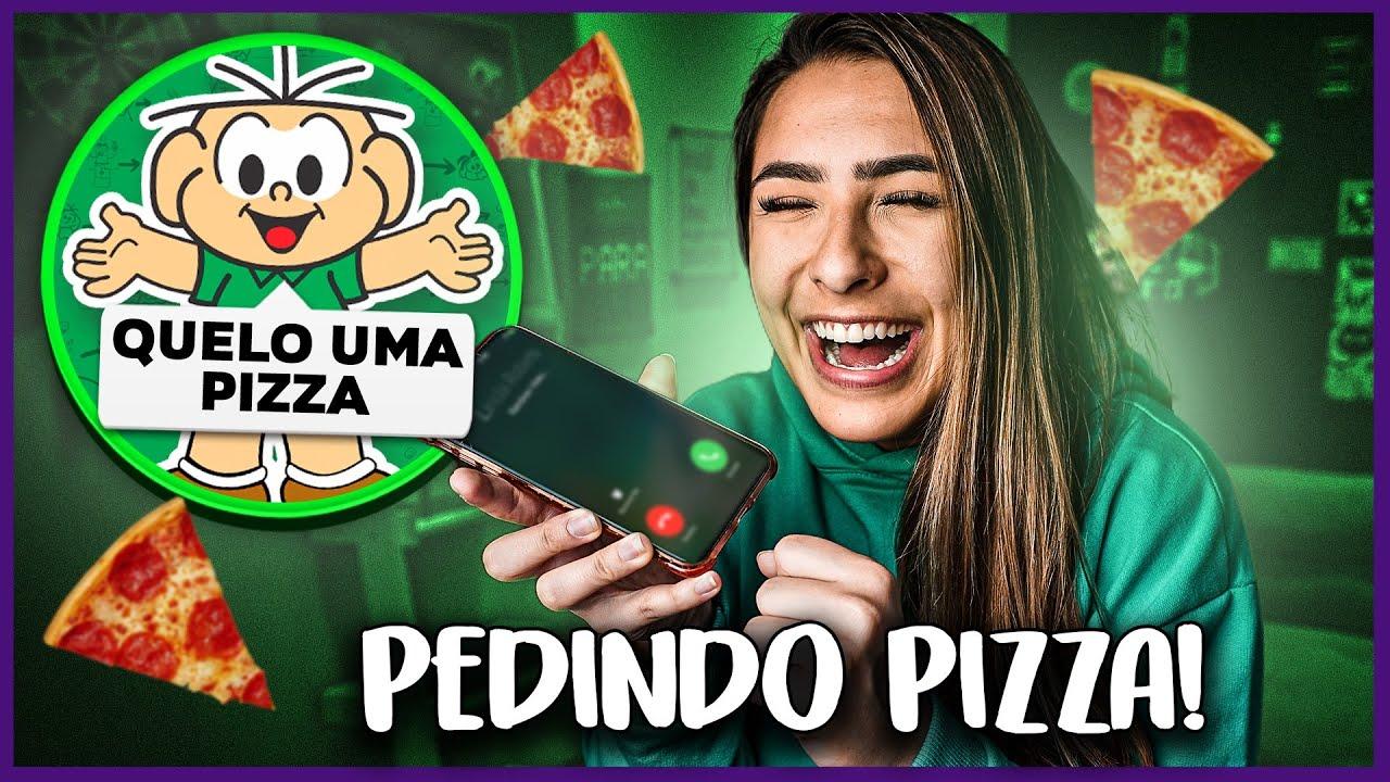 PEDINDO PIZZA COM A VOZ DO CEBOLINHA! PARTE 2