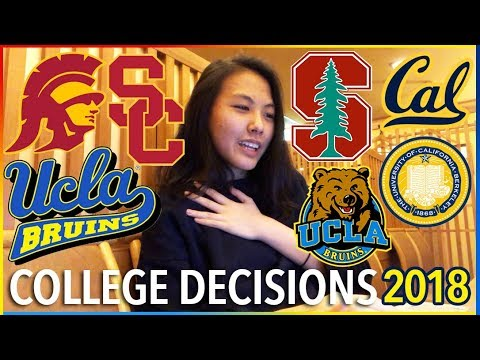 😱COLLEGE DECISION REACTIONS 2018: Stanford, UCLA, USC, Berke